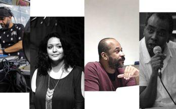 Da esquerda para a direita: Eugênio Lima, Dione Carlos, Luis Fernando Peixoto e Saloma Salomão. Fotos: Sérgio, Lilian Dias, Jorge Louraço.