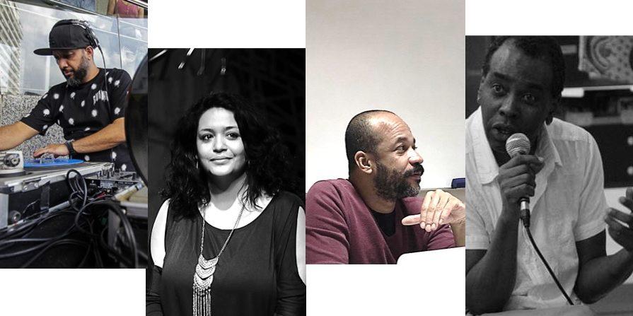 Da esquerda para a direita: Eugênio Lima, Dione Carlos, Josés Fernando Peixoto e Saloma Salomão. Fotos: Sérgio, Lilian Dias, Jorge Louraço.